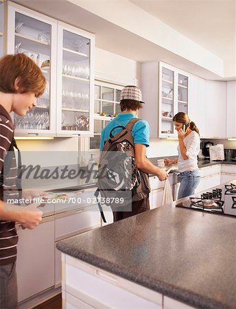Family Getting Ready in the Morning Stock Photo - Rights-Managed, Image code: 700-02738789