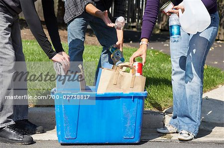 Mother and Sons Sorting the Recycling Stock Photo - Rights-Managed, Image code: 700-02738817