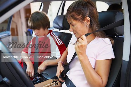Mom Taking Son to Soccer Game Stock Photo - Rights-Managed, Image code: 700-02738852