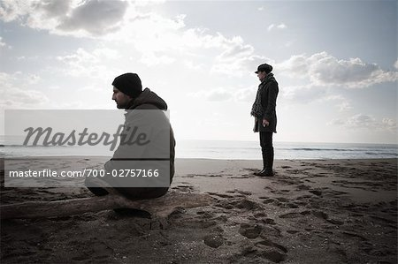 Couple on Beach in Winter, Lazio, Rome, Italy Stock Photo - Rights-Managed, Image code: 700-02757166