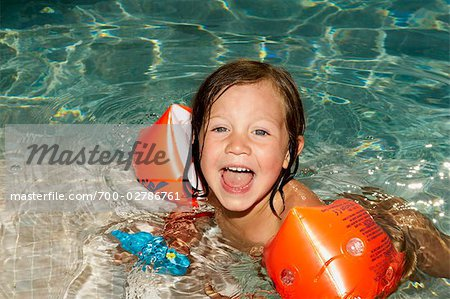 Girl Swimming Stock Photo - Rights-Managed, Image code: 700-02786761