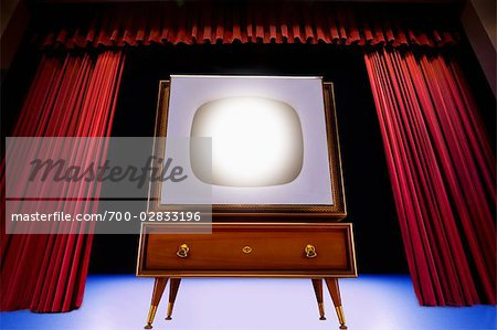 Vintage TV on Theatre Stage Stock Photo - Rights-Managed, Image code: 700-02833196