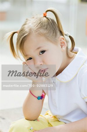 Portrait of Little Girl Stock Photo - Rights-Managed, Image code: 700-02883129