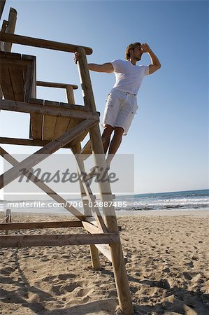 Lifeguard at Beach, Ibiza, Spain Stock Photo - Rights-Managed, Image code: 700-02887485