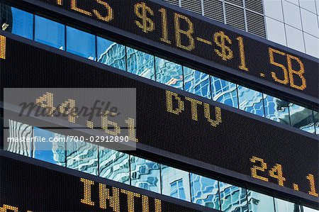 Trading Board, Times Square, Manhattan, New York, New York, USA Stock Photo - Rights-Managed, Image code: 700-02912890