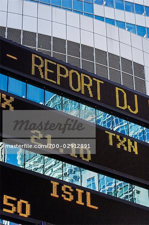 Trading Board, Times Square, Manhattan, New York, New York, USA Stock Photo - Rights-Managed, Image code: 700-02912891