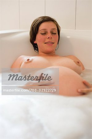 Pregnant Woman Relaxing in the Bathtub Stock Photo - Rights-Managed, Image code: 700-02922729