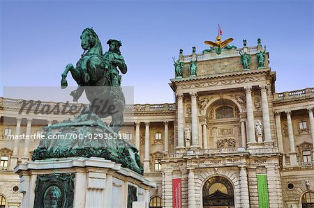 Hofburg Palace and Statue of Prince Eugene of Savoy, Vienna, Austria Stock Photo - Rights-Managed, Image code: 700-02935518
