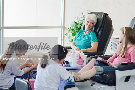 Grandmother and Granddaughter Enjoying a Day at the Spa Stock Photo - Rights-Managed, Image code: 700-02957633