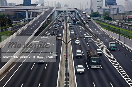 Highway, Odaiba, Tokyo, Kanto Region, Honshu, Japan Stock Photo - Premium Rights-Managed, Artist: Rudy Sulgan, Code: 700-02957740