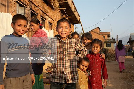 Group of Kids in Chapagaon, Nepal Stock Photo - Rights-Managed, Image code: 700-02957841