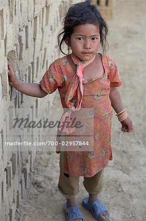Little Girl in Chapagaon, Nepal Stock Photo - Rights-Managed, Image code: 700-02957844