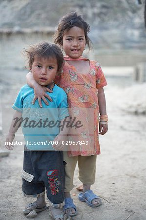 Little Kids in Chapagaon, Nepal Stock Photo - Rights-Managed, Image code: 700-02957849