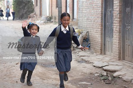 School Children in Chapagaon, Nepal Stock Photo - Rights-Managed, Image code: 700-02957855