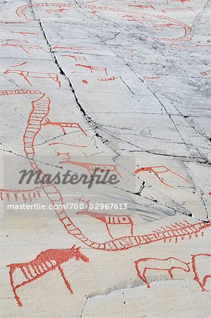 Prehistoric Rock Carvings, Alta, Norway Stock Photo - Rights-Managed, Image code: 700-02967613