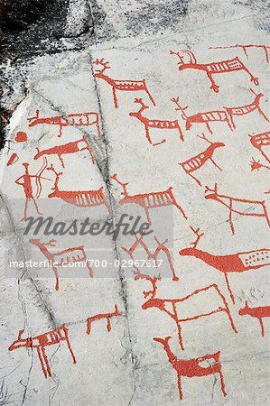 Prehistoric Rock Carvings, Alta, Norway Stock Photo - Rights-Managed, Image code: 700-02967617