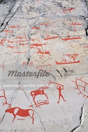 Prehistoric Rock Carvings, Alta, Norway Stock Photo - Rights-Managed, Image code: 700-02967618