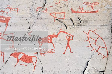 Prehistoric Rock Carvings, Alta, Norway Stock Photo - Rights-Managed, Image code: 700-02967620