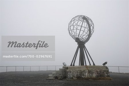Globe Monument at Nordkapp, Norway Stock Photo - Rights-Managed, Image code: 700-02967691
