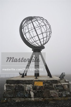 Globe Monument at Nordkapp, Norway Stock Photo - Rights-Managed, Image code: 700-02967692