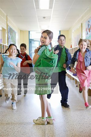 Group of Students in Hallway Stock Photo - Rights-Managed, Image code: 700-02989944