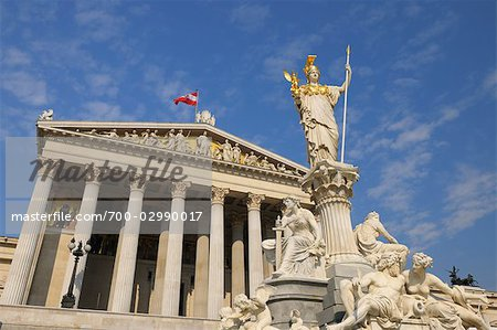 Pallas Athene Fountain and Parliament Building, Vienna, Austria Stock Photo - Rights-Managed, Image code: 700-02990017