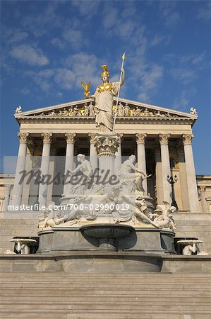 Pallas Athene Fountain and Parliament Building, Vienna, Austria Stock Photo - Rights-Managed, Image code: 700-02990019