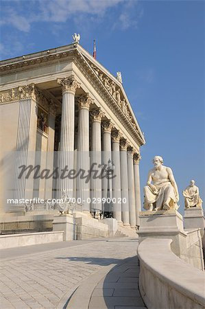 Austrian Parliament Building, Vienna, Austria Stock Photo - Rights-Managed, Image code: 700-02990020