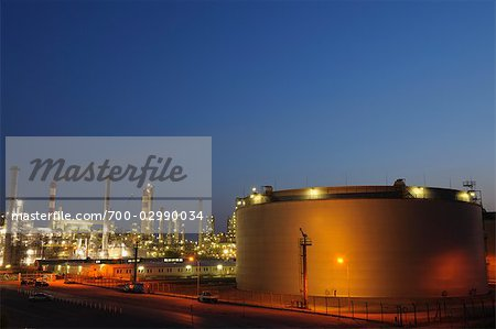 Oil Refinery in Schwechat, Vienna, Austria Stock Photo - Rights-Managed, Image code: 700-02990034
