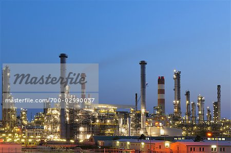 Oil Refinery in Schwechat, Vienna, Austria Stock Photo - Rights-Managed, Image code: 700-02990037