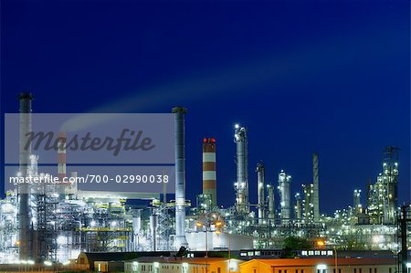 Oil Refinery in Schwechat, Vienna, Austria Stock Photo - Rights-Managed, Image code: 700-02990038