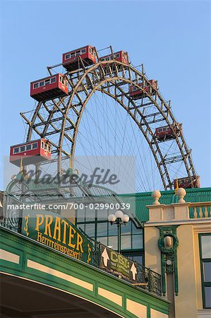 Ferris Wheel, Prater, Vienna, Austria Stock Photo - Rights-Managed, Image code: 700-02990039