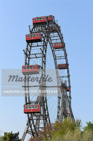 Ferris Wheel, Prater, Vienna, Austria Stock Photo - Rights-Managed, Image code: 700-02990044