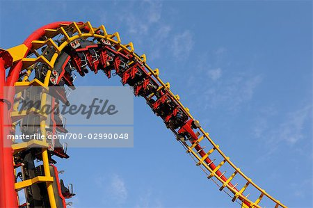 Roller-coaster, Prater, Vienna, Austria Stock Photo - Rights-Managed, Image code: 700-02990048