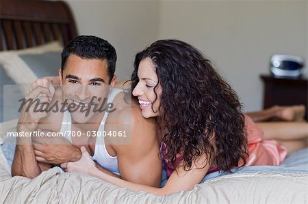 Couple in Bed Stock Photo - Rights-Managed, Image code: 700-03004061