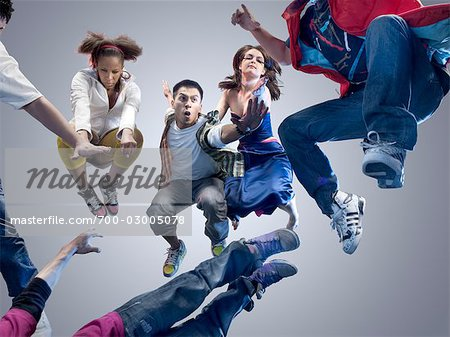 Group of People Jumping Stock Photo - Rights-Managed, Image code: 700-03005078
