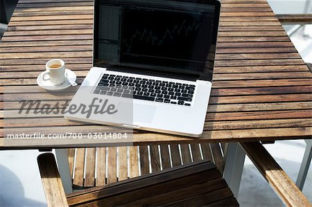 Laptop Computer and a Cup of Coffee Stock Photo - Rights-Managed, Image code: 700-03014804