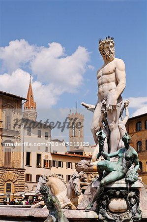 Piazza della Signoria, Florence, Tuscany, Italy Stock Photo - Rights-Managed, Image code: 700-03015125