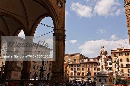 Piazza della Signoria, Florence, Tuscany, Italy Stock Photo - Rights-Managed, Image code: 700-03015130