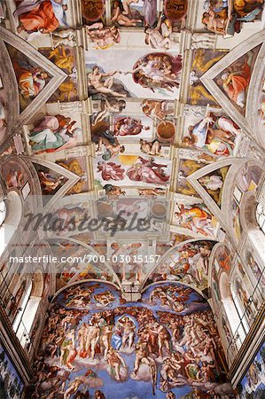 Sistine Chapel, Vatican Museum, Vatican City, Rome, Italy Stock Photo - Rights-Managed, Image code: 700-03015157