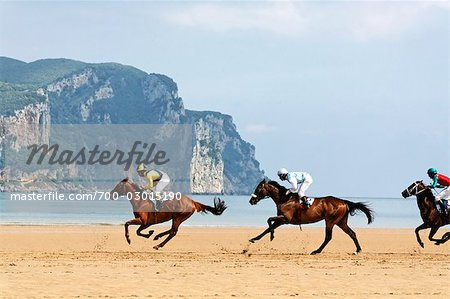 Horse Racing on the Beach, Laredo, Cantabria, Spain Stock Photo - Rights-Managed, Image code: 700-03015190