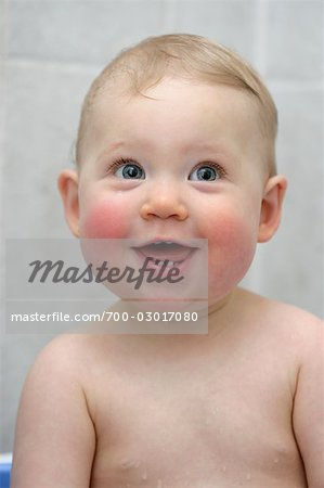 Happy Baby Having a Bath Stock Photo - Rights-Managed, Image code: 700-03017080