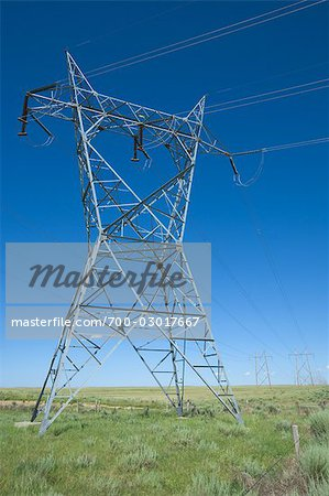 Hydro Towers in the Colorado Prairies, USA Stock Photo - Rights-Managed, Image code: 700-03017667