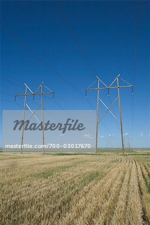 Hydro Towers in the Colorado Prairies, USA Stock Photo - Rights-Managed, Image code: 700-03017670