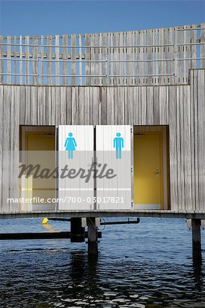 Changing Rooms at the Beach, Copenhagen, North Sealand, Denmark Stock Photo - Rights-Managed, Image code: 700-03017821