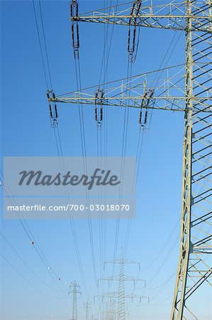 Power Lines Stock Photo - Rights-Managed, Image code: 700-03018070