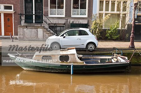 Car and Boat, Amsterdam, Netherlands Stock Photo - Rights-Managed, Image code: 700-03018137