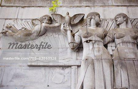 Sculptures at Mont Des Arts, Brussels, Belgium