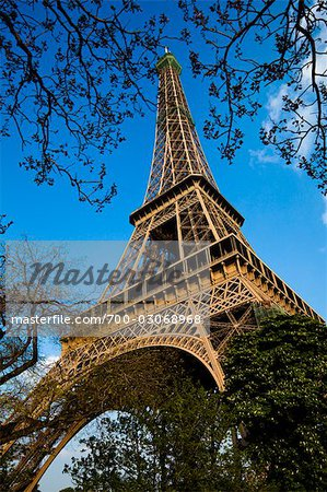 Eiffel Tower, Paris, Ile de France, France Stock Photo - Rights-Managed, Image code: 700-03068968