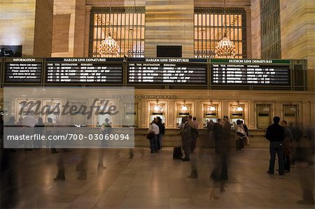 Ticket Counter at Grand Central Station, Manhattan, New York City, New York, USA Stock Photo - Rights-Managed, Image code: 700-03069094